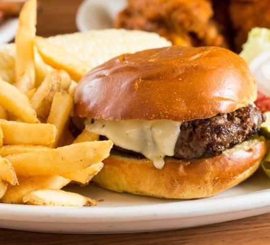Adam's Classic Burger with Fries