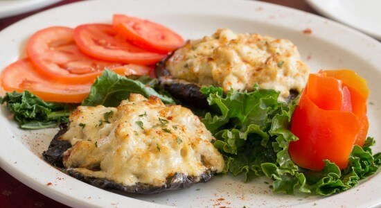 Adam's Crab and Cheese Stuffed Portobello