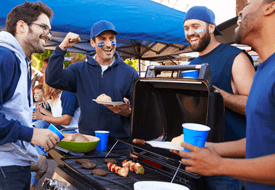 Friends Tailgating Together